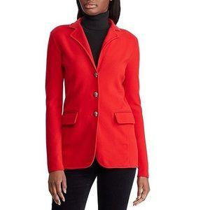 Ralph Lauren 100% Merino Cardigan Sweater Red M